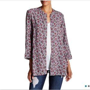 CAD Gray Floral Kimono Cardigan
